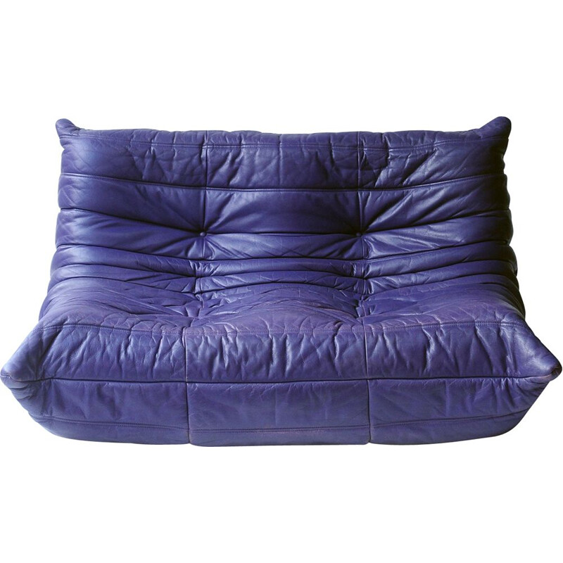 Togo 2-seater sofa in purple leather