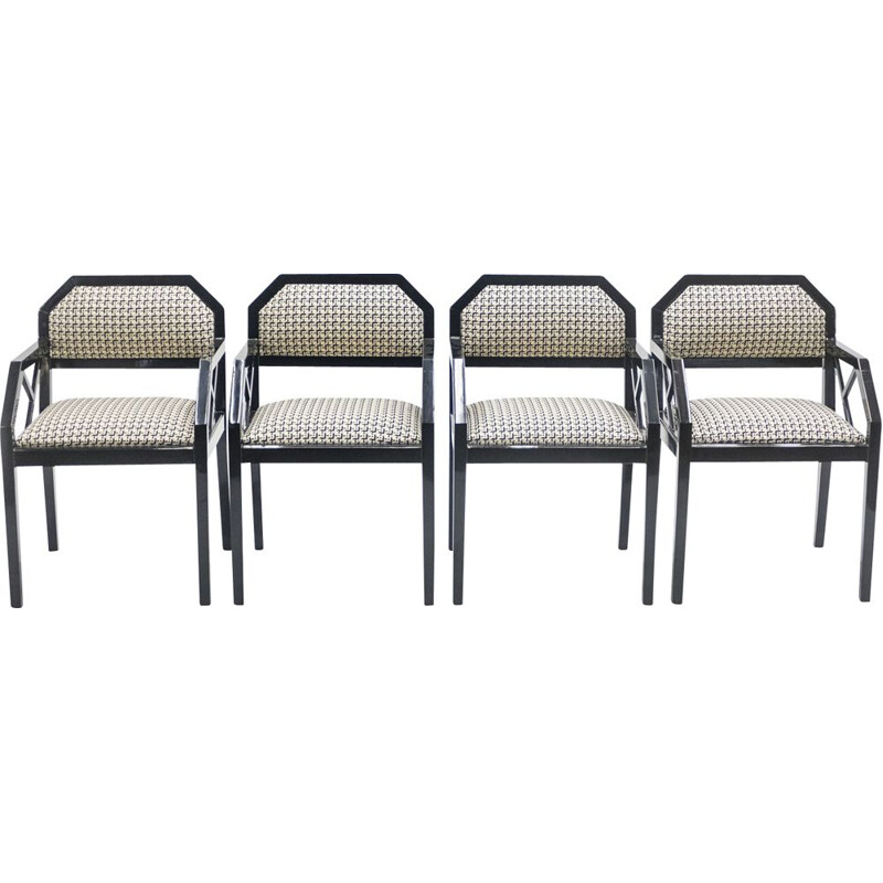 Set of 4 vintage chairs by Jean-Claude Mahey for Romeo Paris