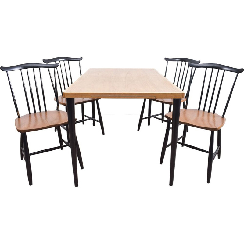 Swedish dining set in wood