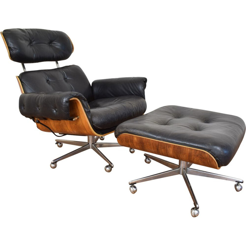 Lounge chair and ottoman by Martin Stool for Giroflex