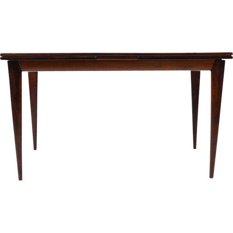 Extendable table in rosewood by Niels O. Moller