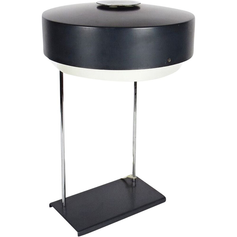 Black steel lamp by Josef Hurka for Napako