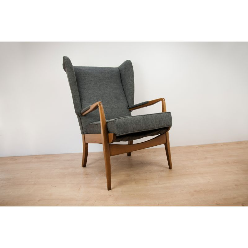 Vintage Armchair By Samuel Parker For Parker Knoll Grey 1960s