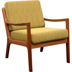 Armchair in teak and fabric, Ole WANSCHER - 1950s