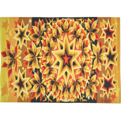 Tapestry in red and yellow, JC BISSERY - 1970s