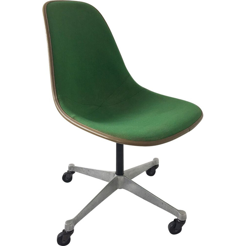 Vintage Eames fibreglass PSC chair for Herman Miller