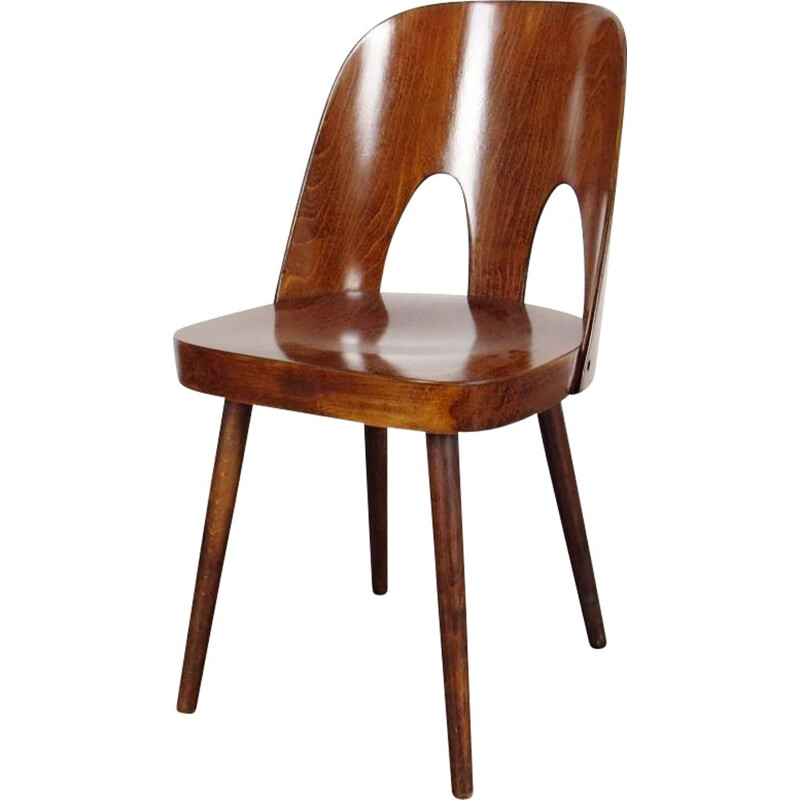 Vintage Czechoslovakian dining chair by Oswald Haertdl for Ton 1950