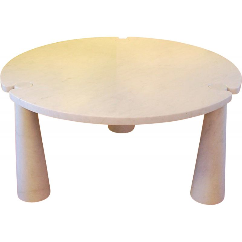 Eros dining table in marble by Angelo Mangiarotti