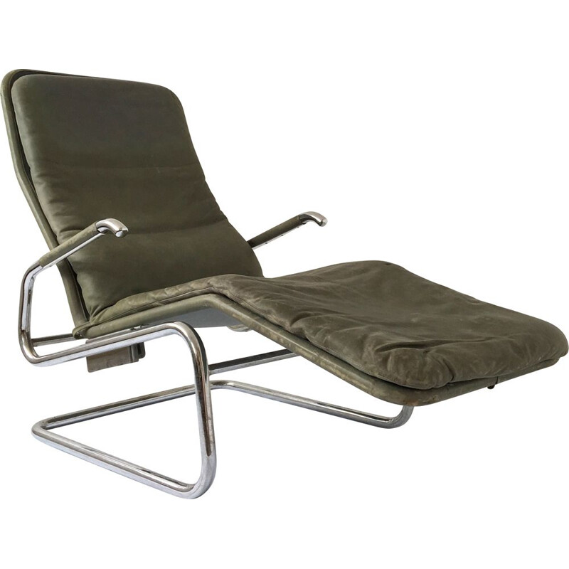 Cicero lounge chair in leather by Dux