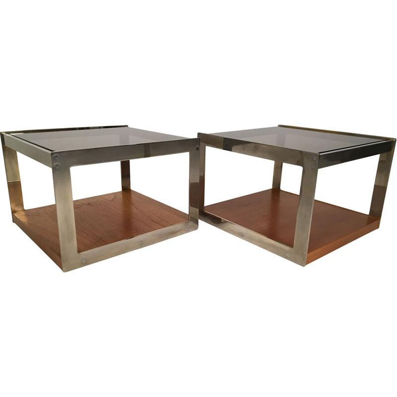 Pair of oak side tables by Richard Young