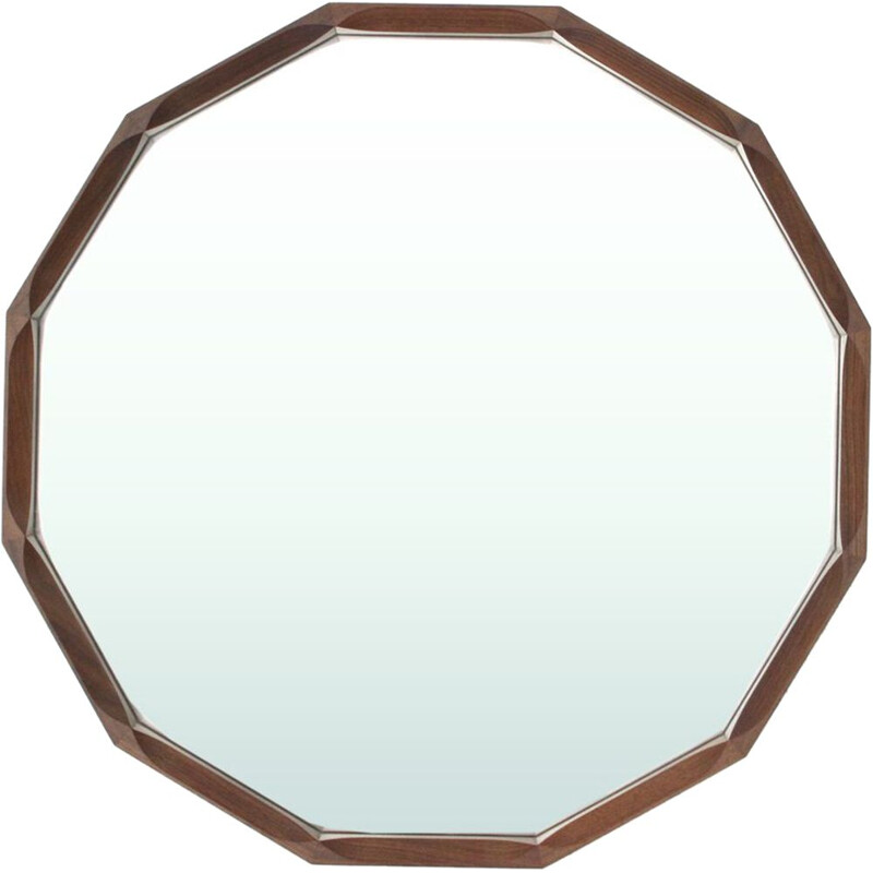 Italian wooden mirror by Tredici