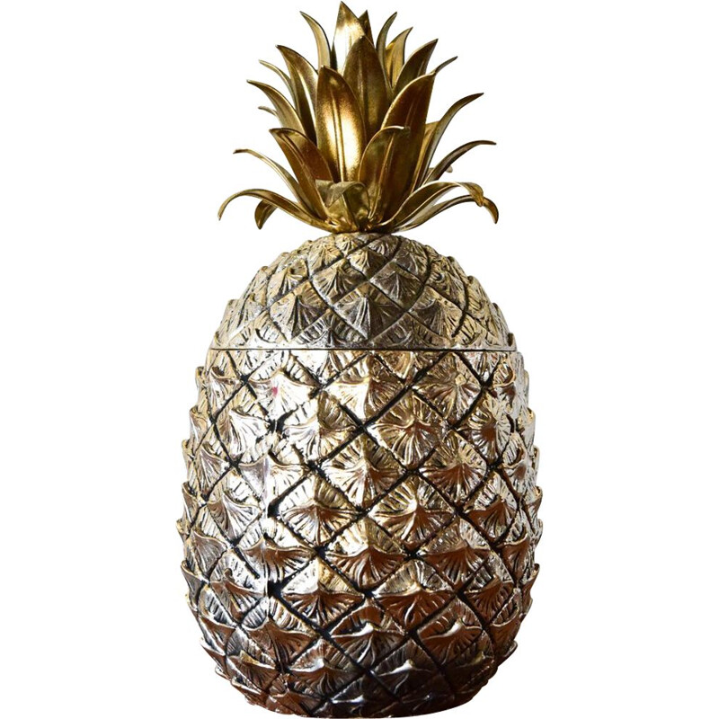 Pineapple ice bucket by Mauro Manetti for Fonderia d'Arte Firenze in aluminium
