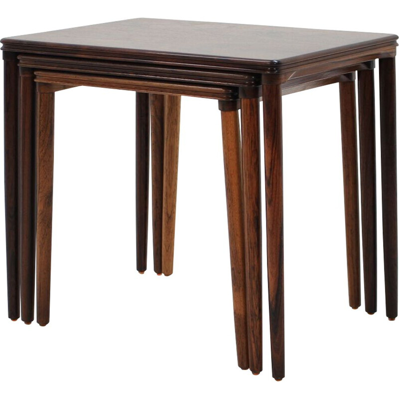Vintage danish nesting tables in rosewood 1960