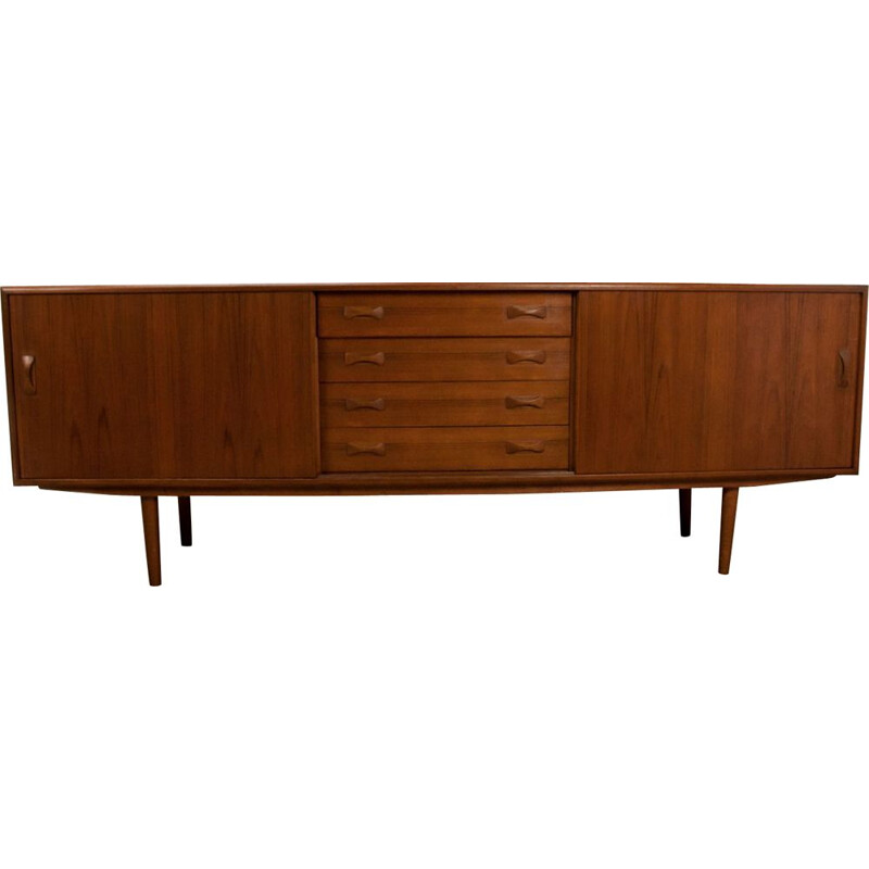 Vintage danish teak sideboard for Clausen & Son 1960