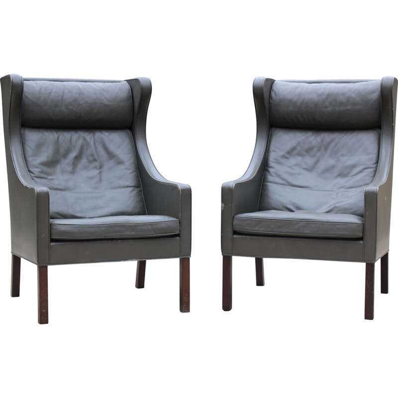 Pair of 2204 armchairs by Børge Mogensen for Fredericia