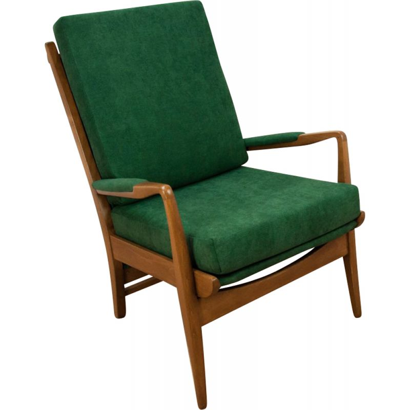 Vintage Armchair By Samuel Parker For Parker Knoll Green 1960s