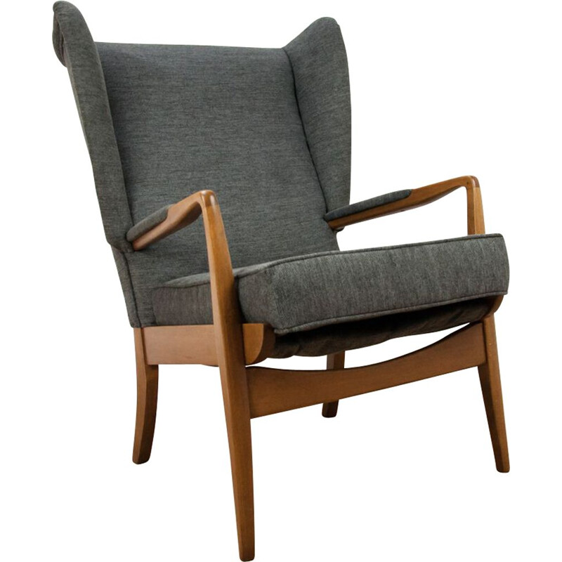 Vintage Armchair by Samuel Parker for Parker Knoll, Grey, 1960s