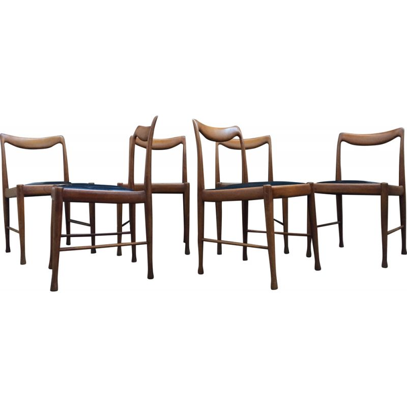 Set of 6 vintage chairs by Jacques Hauville