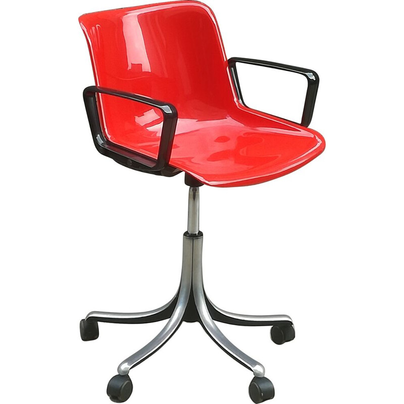 Vintage office chair Modus by Osvaldo Borsan for Tecno 1960
