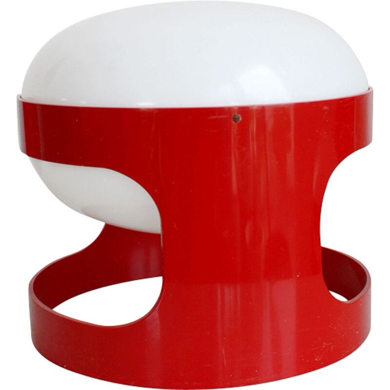 Red KD27 lamp by Joe Colombo for Kartell