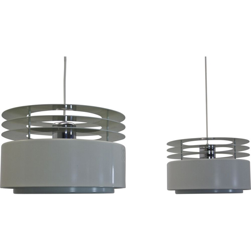 Pair of Hydra pendant lamps by Jo Hammerborg