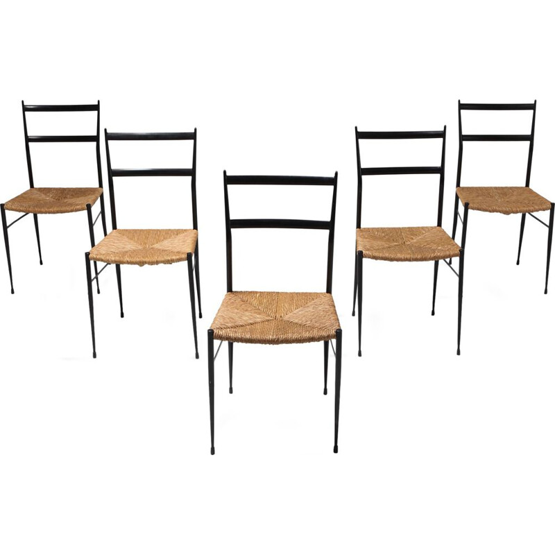 Set of 5 vintage Dining Chairs - 1969