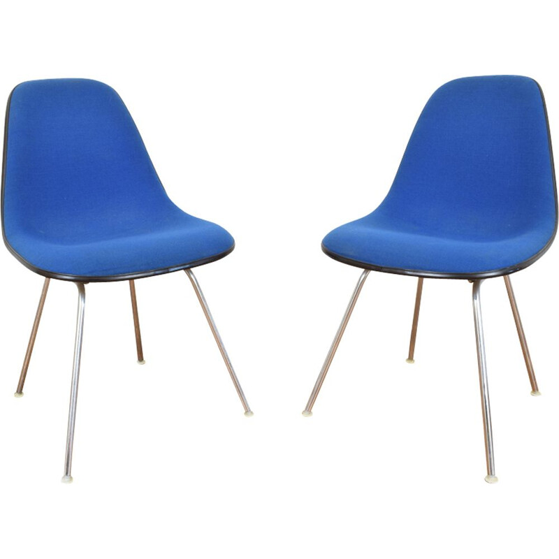 Set of 2 desk chairs DSX by Charles & Ray Eames for Herman Miller, 1960s