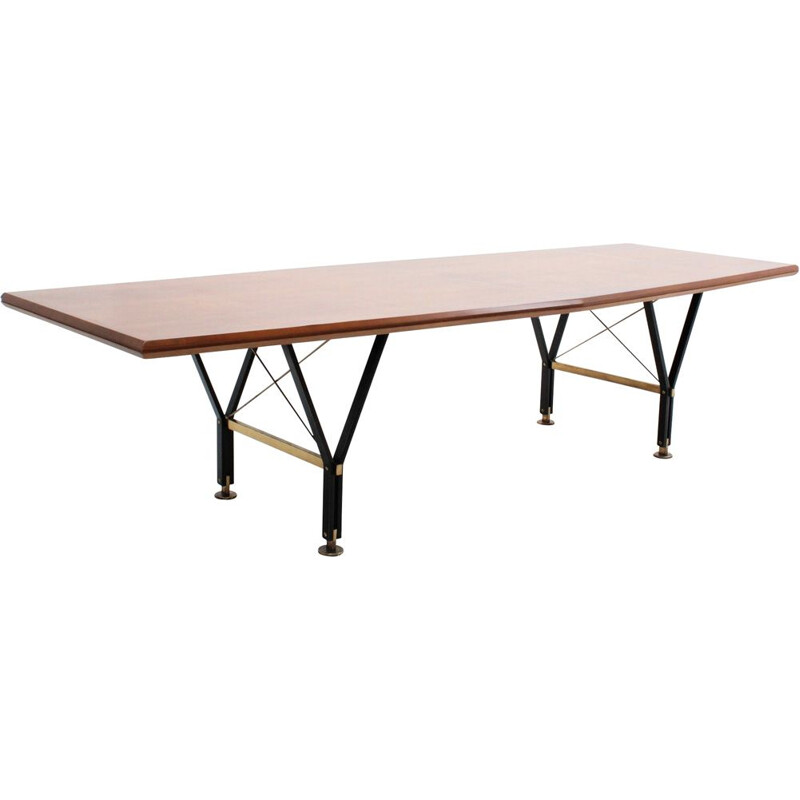 Vintage conference table, italian, 1950s