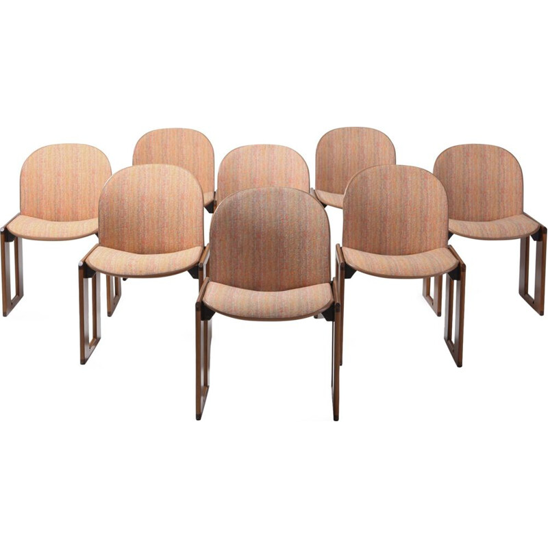 Set of 8 vintage chairs Model 121 by Afra & Tobia Scarpa for Cassina, Italy, 1965