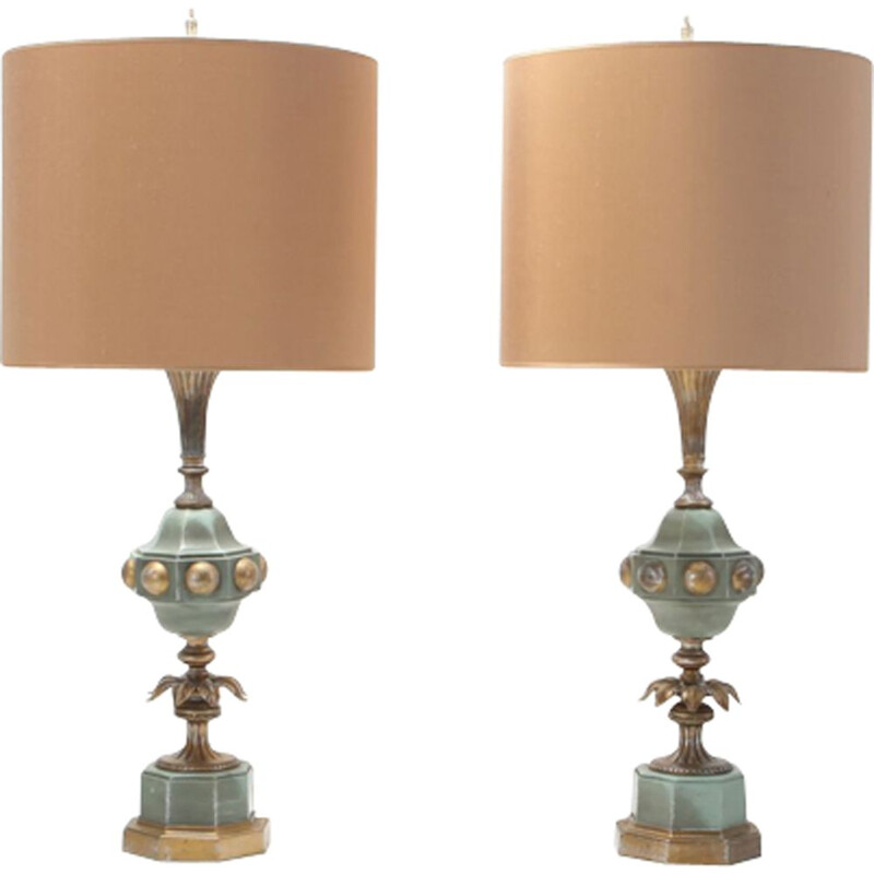 Pair of vintage hollywood regency table lamps