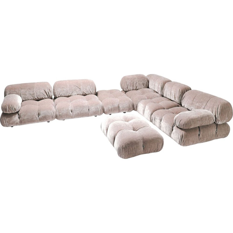 Vintage nude colored mlodular sofa by Mario Bellini Camaleonda