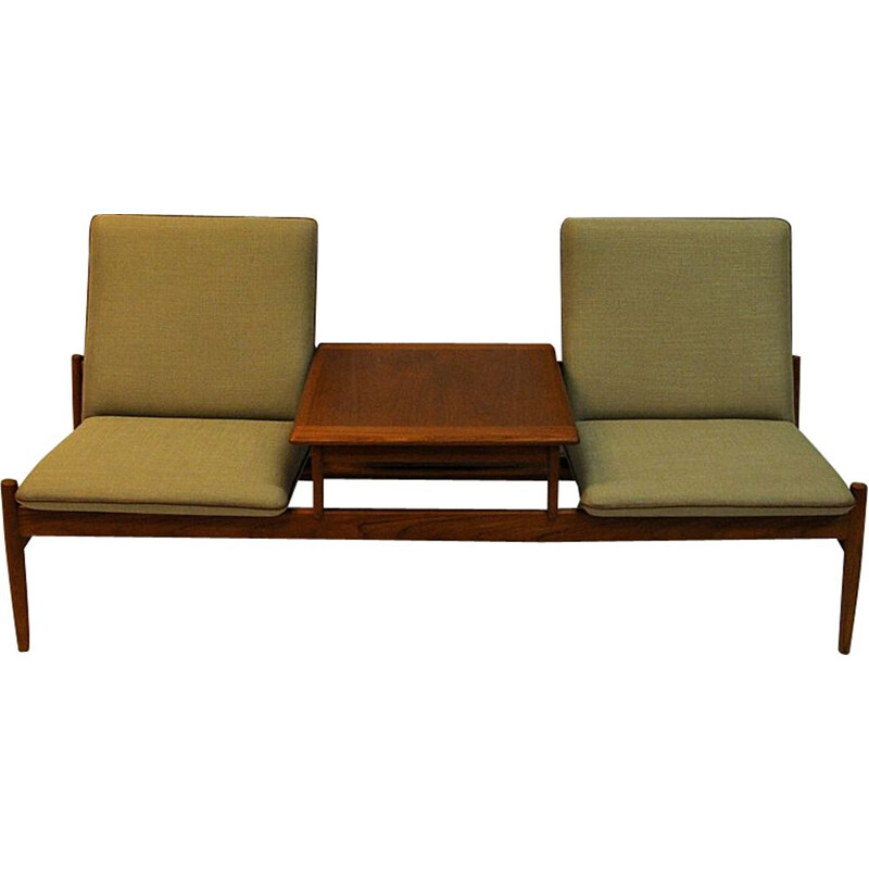 Vintage sofa module set Saga with table by Gunnar Sørlie