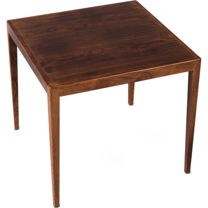 Vintage Danish square rosewood side table