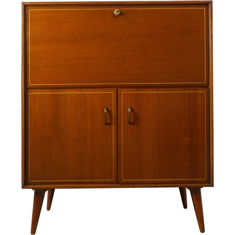 Vintage wooden secretary from the 50s by Multilux
