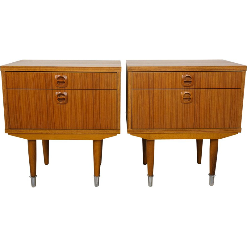 Vintage pair of night stands from the 50s