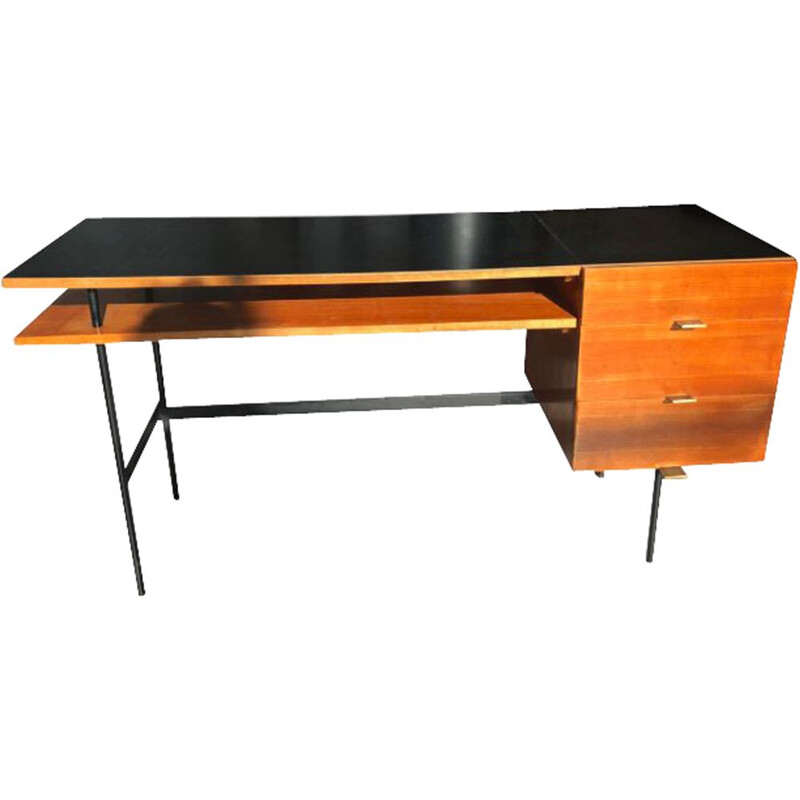 Vintage Office desk with 3 drawers 1950