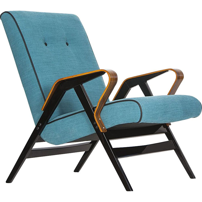 Vintage blue Armchair from Tatra, 1960s