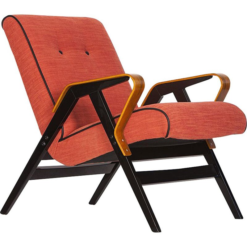 Vintage orange Armchair from Tatra, 1960s