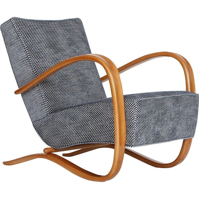 H-269 Vintage armchair by Jindrich Halabala for Spojene UP Zavody, 1930s