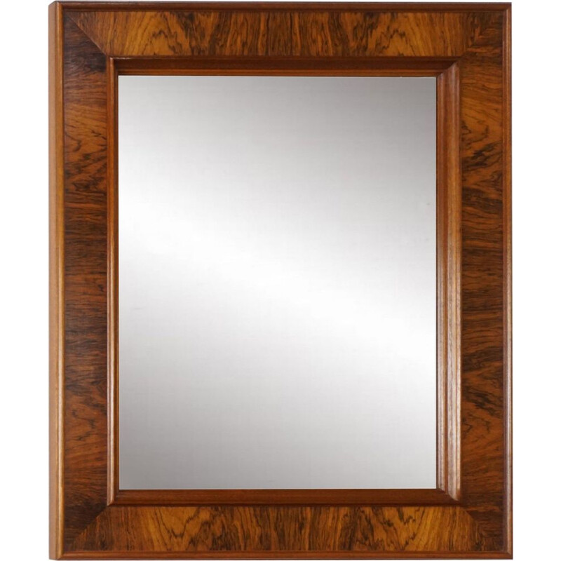 Vintage mirror rectangular 1960 in rosewood