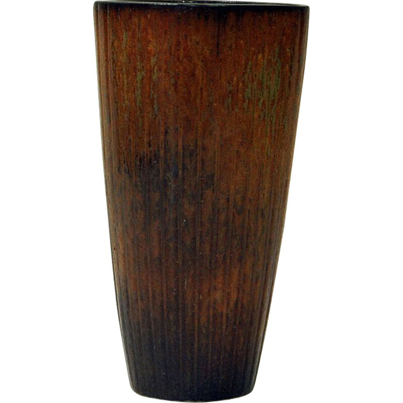 Vintage Vase in Ceramic, Brown, by Gunnar Nylund, Rorstrand, Sweden 1950s