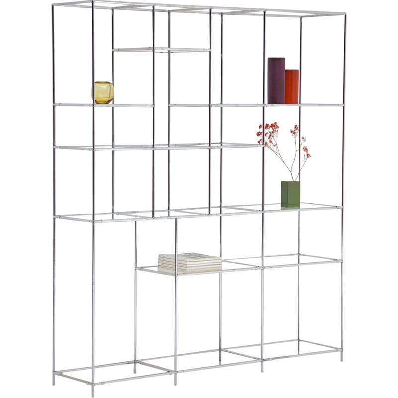 Vintage shelf chrome-plated by Poul Cadovius,1960
