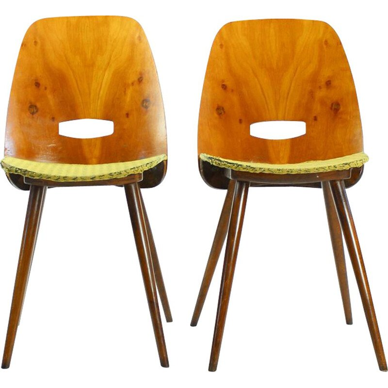Pair of Lollipop chairs by Frantisek Jirak