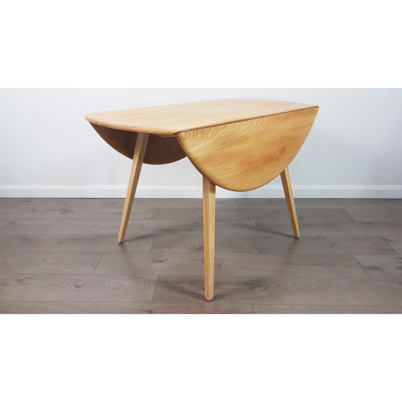 Phenomenal Vintage Dining Table In Elm Drop Leaf Round By Lucian Ercolani For Ercol 1960S Download Free Architecture Designs Salvmadebymaigaardcom