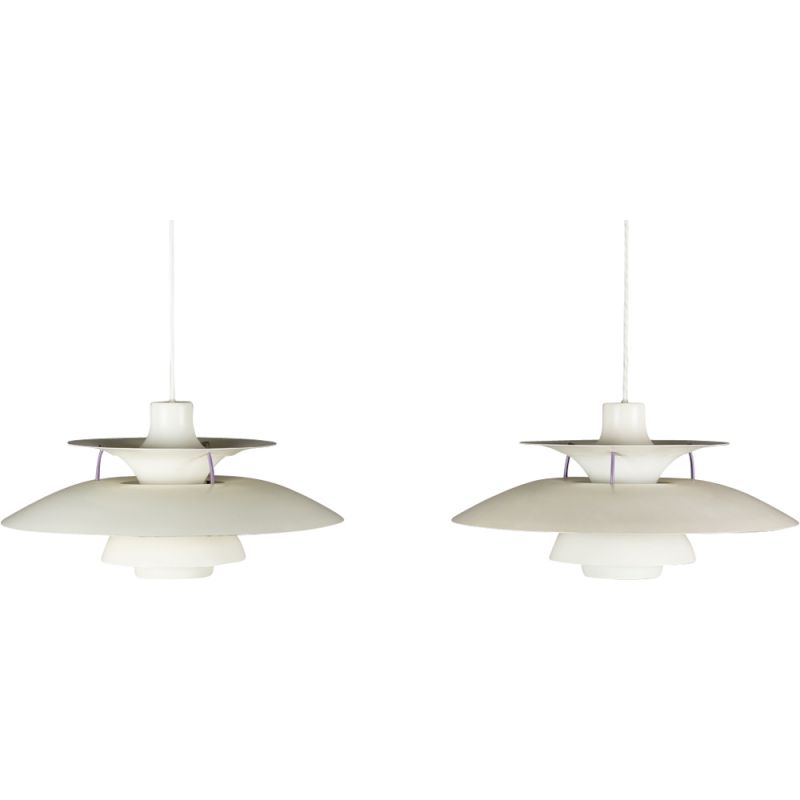 2 vintage pendant lamps by Poul Henningsen for Louis Poulsen,1950