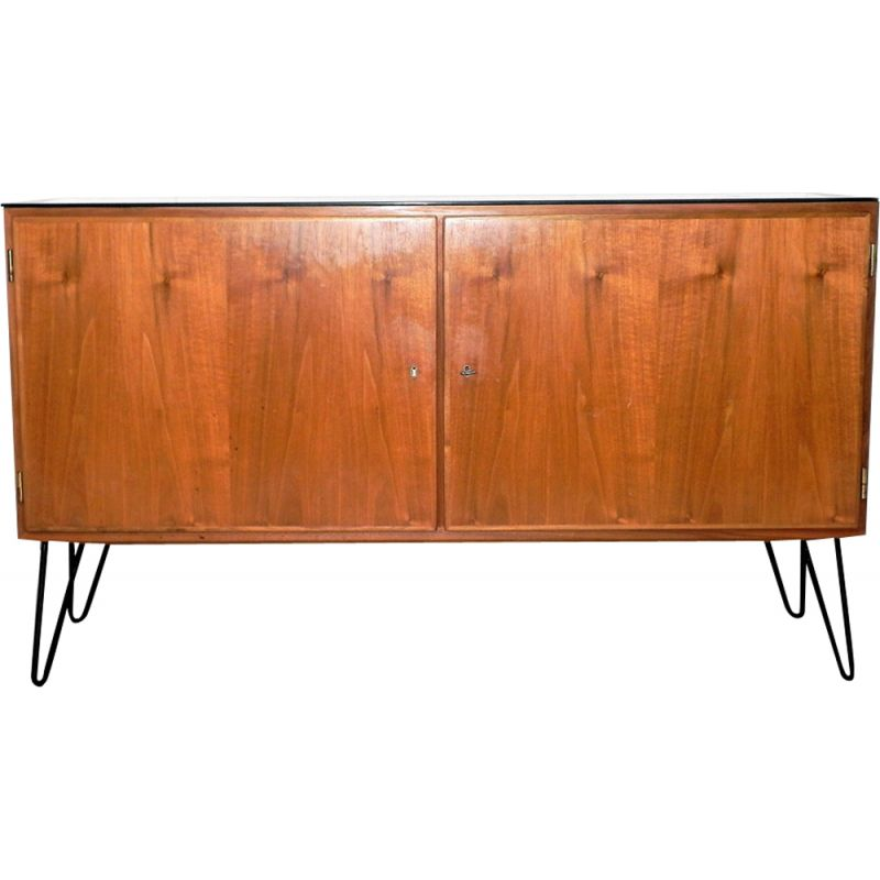 Vintage Scandinavian highboard in teak