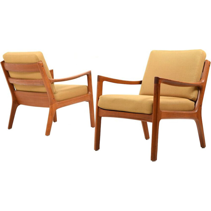 Pair of  vintage Senator easychairs by Ole Wanscher