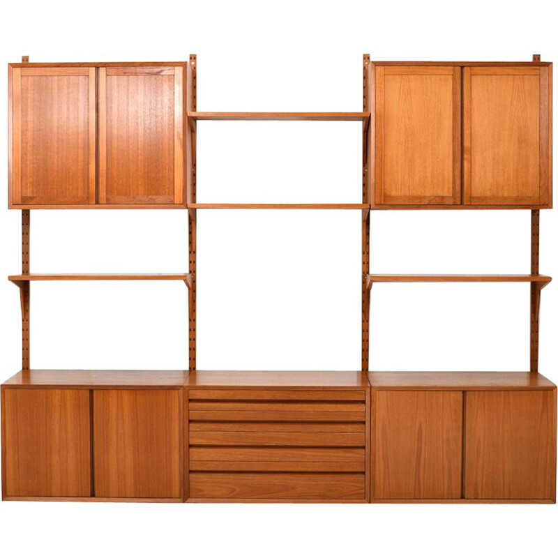 Vintage Poul Cadovius wall system in teak