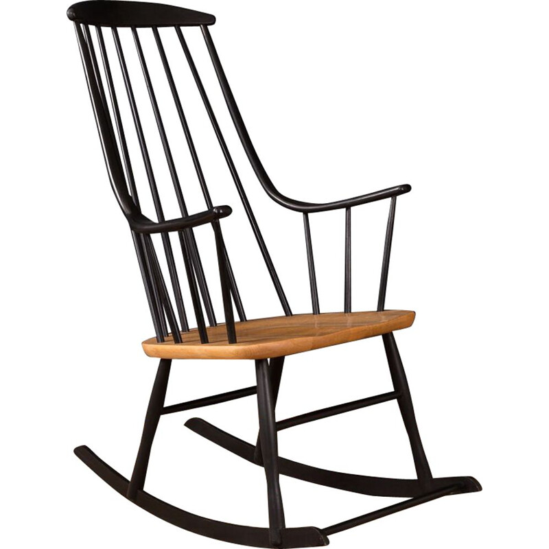 Black rocking chair by Lena Larsson for Nesto