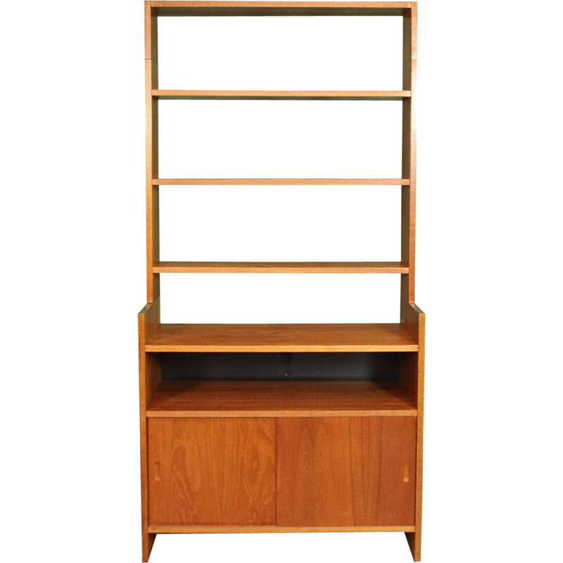 Vintage teak bookcase by Cadovius for KLM 1960